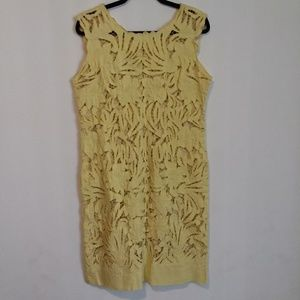 Vintage 1960s Yellow Lace Summer Dress
